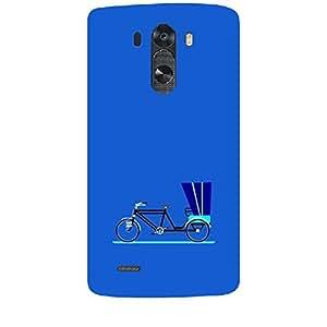 Skin4gadgets Cycle Rikshaw, Color - Royal Blue Phone Skin for LG G3 (D851,855,830)