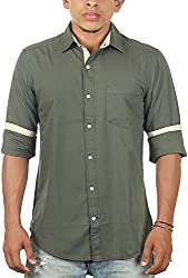 Lapilvi Men's Slim Fit Casual Shirt (lpb0011_sage green_small, Green, Small)