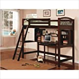 Dorena Twin Workstation Bunk Bed in Cappuccino
