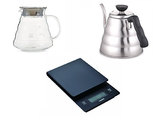 New Hario V60 Set Scale Range Server Kettle Set VST-2000B VKB-120HSV XGS-60TB from Japan (V60 Coffee Server Set compare prices)