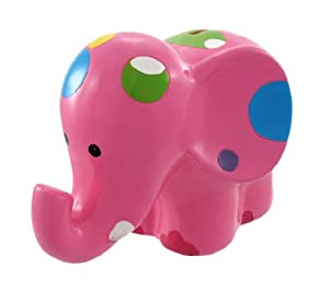 Adorable Pink Polka Dot Elephant Money Bank Piggy