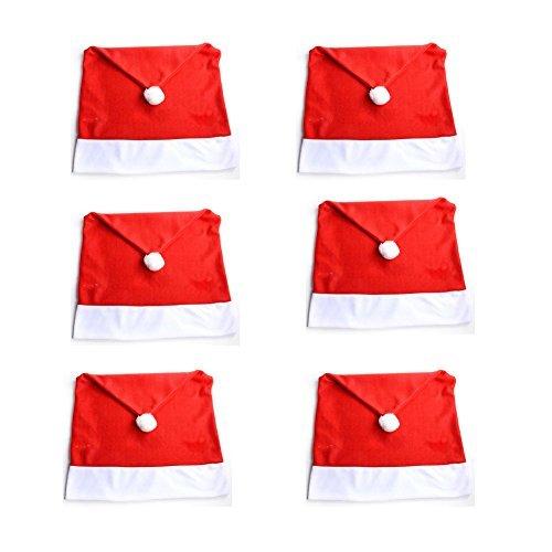 4x copri schienale sedia motivo nordico cappello di babbo. Black Bedroom Furniture Sets. Home Design Ideas
