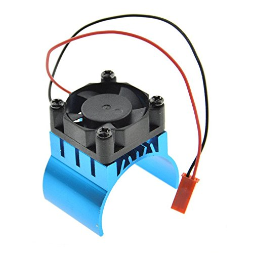 1:10 RC Model Car Cooling Fan Aluminum Heat Sink Fit 540 550 Motors 7016 Blue (540 Motor Cooling Fan compare prices)