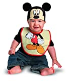 Disguise Costumes Drool Over Me Disney Mickey Mouse Infant Bib and Hat  Accessory, Black/Red/Tan, 0-12 Months