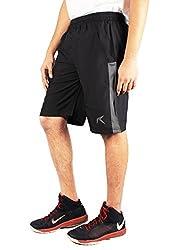 Repugn's Ad Nauseam Polyester Woven Shorts (Black, Medium)