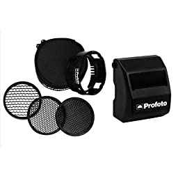 Profoto Off-Camera Flash Grid Kit, Includes 10/20/30deg. Honeycomb Grids, Grid Holder, Soft Bag for Profoto B1 and B2 - Bundle With Profoto Lithium-ion Battery for B1 500 AirTTL Off-Camera Flash