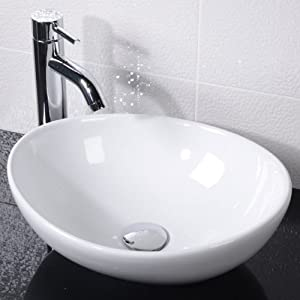 Countertop Bathroom Hand Wash Basin Bowl - Surface Mounted, En-Suite ...