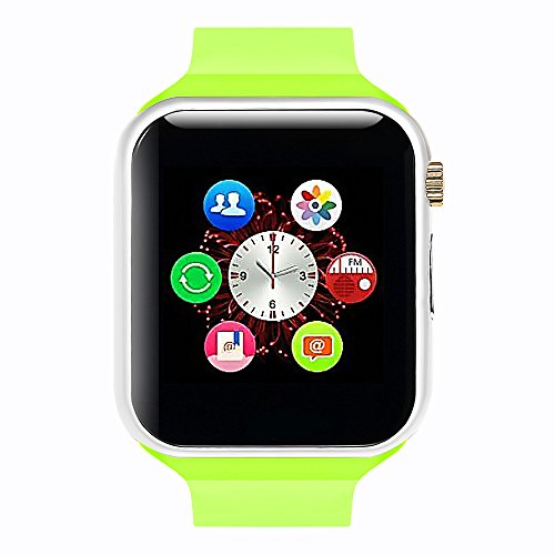 Lincass Smart Watch Bluetooth Fitness WristWatch with Camera Waterproof Smartwatch with Camera Pedometer Anti-lost Men Women Bracelet Watch for iphone IOS Samsung Android Smartphone (Green)