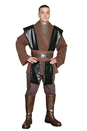 Jedi-Robe Men's Star Wars Anakin Skywalker Tunic Set Medium Brown (Anakin Skywalker Robe)