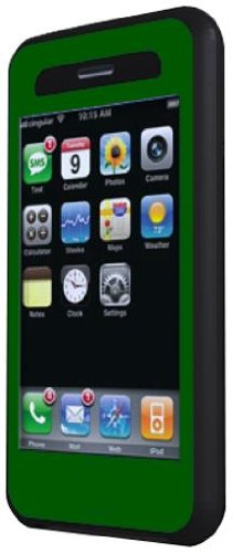 Ivy Skins Duo Arm Case for iPhone 3G (Green/Black)