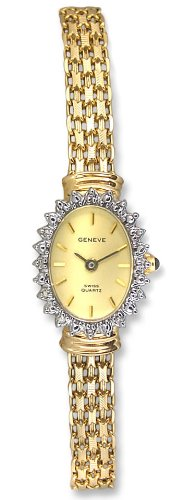 Geneve 14k Solid Gold Diamond Womens Watch W080827