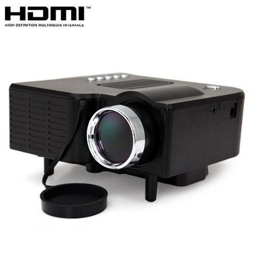 24W Mini Multimedia Lcd Image System Led Projector With Sd / Usb / Av / Vga /Hdmi Port Color: Black Size: Uc28 Pc, Personal Computer