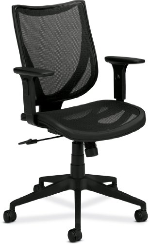 basyx by HON HVL562 Mid-Back Mesh Back Chair for Office or Computer Desk, Black