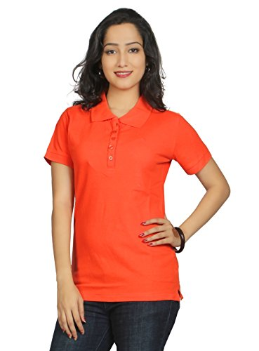 Aliep Aliep Orange Cotton Printed Round Neck Tshirt For Women | AL1048ORG (Multicolor)
