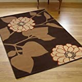 MODERN CONTEMPORARY PATINA BLOOM RUG BROWN BEIGE