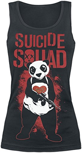 Suicide Squad Panda - Friends Forever Top donna nero L