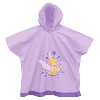 Tinkerbell Disney Fairies Girl's Purple Poncho