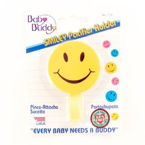 Imagen de Baby Buddy Smiley Chupete titular, Amarillo