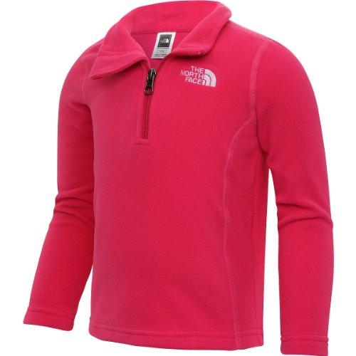 The North Face Glacier 1/4 Zip Fleece Jacket (2T, Passion Pink) front-778442