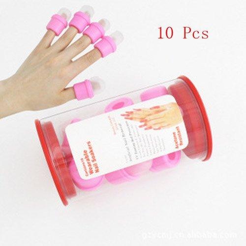 10Pcs Wearable Salon Diy Nail Acrylic Uv Gel Polish Remover Soaker Cap Tool