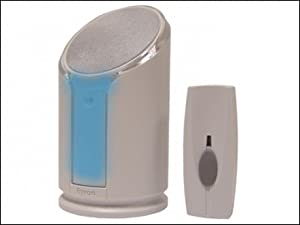 Byron Sentry BY301 100m Extra Loud Wireless Portable Door Chime Kit with Optional Strobe Alert and 8 Sounds