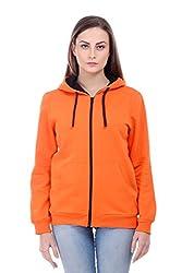 Bonhomie Women Sweatshirts [BCQSO35_Orange_Large]