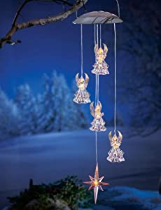 Solar Powered Hanging Angel Outdoor Decoration