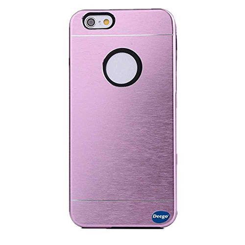 Nancy'S Shop Apple Iphone 6 (4.7-Inch) Metal Case Cover, Tough Armor Aluminum Hard Extreme Luxury Shockproof Apple Iphone 6 (4.7-Inch) , 2 In 1 Luxury Rubber Aluminum Brushed Ultra-Thin Metal Hard Case Cover Skin For Apple Iphone 6 (4.7-Inch) (2 In 1 Luxu