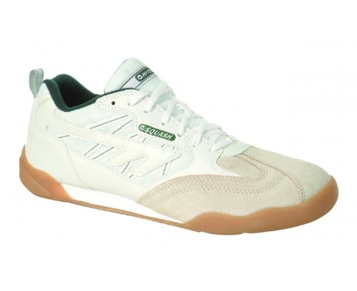 Hi-Tec Men's Squash Classic Cross Training Shoes,White/Dark Green ,3.5 UK