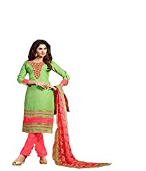Fashiondiya Antra Chanderi Jeqared Top, Cotton Bottom, Nett Brasso Dupatta