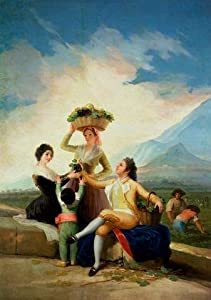 Autumn by Francisco Jose De Goya Y Lucientes Wall Mural - 48 Inches H x 34 Inches W - Peel and Stick Removable Graphic