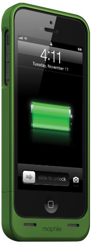 Mophie Juice Pack MFi Approved Helium Battery Case for iPhone 5/5s - Metallic Green Black Friday & Cyber Monday 2014