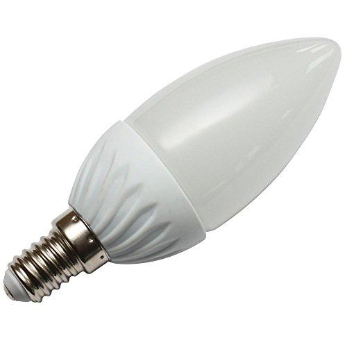 SeKi LED-Kerze 3 Watt A++, E14 Sockel, kaltweiß 6000 Kelvin, ersetzt 25W Glühlampe
