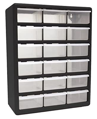 HOMAK 12-Drawer Plastic Parts Organizer
