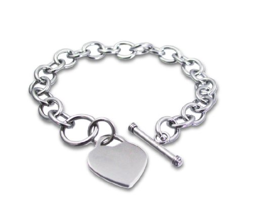 Designer Inspired Stainless Steel Heart Toggle