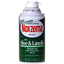 Noxzema Shave Cream with Aloe & Lanolin, Medicated, 11 oz.