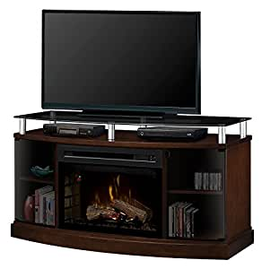 Dimplex Windham Electric Fireplace And Media Console With Pf2325hl Log Set