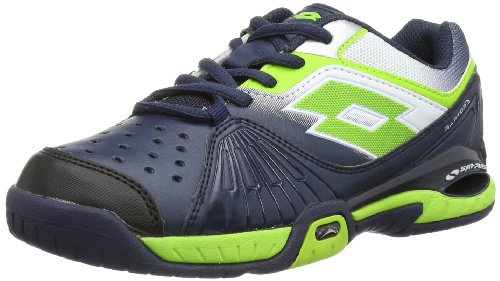Lotto Unisex - Child RAPTOR ULTRA IV JR Tennis Shoes Blue Blau (AVIATOR/FL CLOV) Size: 31