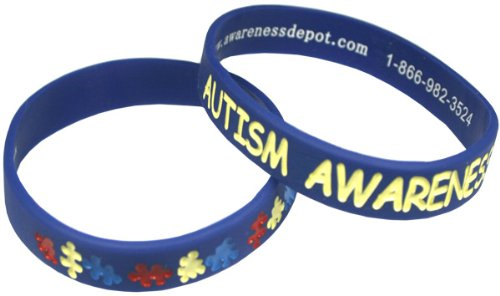 Autism Awareness Bracelets Youth Size (10 Pack)