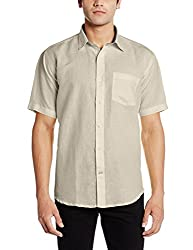 Greenfibre Men's Casual Shirt (88IT_44_Light Beige)