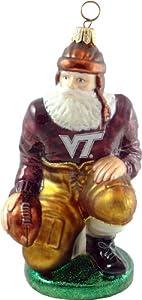 Virginia Tech Hokies Ironman Football Player Blown Glass Ornament
