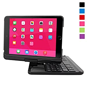 Snugg iPad Mini 1/2/3 Retina 360° Rotatable Keyboard Case Ultra Slim Keyboard Case with Bluetooth Connectivity & Lifetime Guarantee (Black) For Apple iPad Mini 1/2/3 Retina