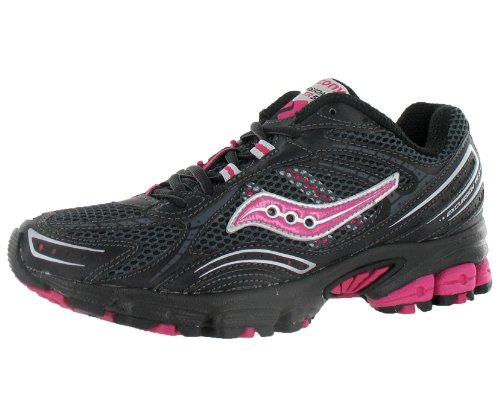 Saucony Women's Grid Excursion TR 5 Trail Running Shoe,Black/Grey/Pink,7 M US