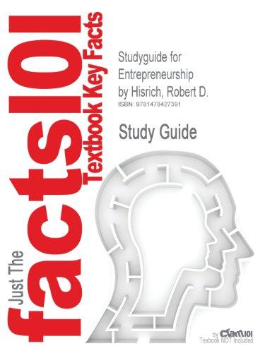 Studyguide for Entrepreneurship by Hisrich, Robert D., ISBN 9780073530321