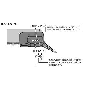 アイリスオーヤマ ホットカーペット ホットマット 45×45cm ブラウン HC-45S-T