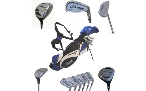 Linksman Golf X7 Mens Left Handed Complete Golf Set with Stand Bag