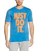 Nike Camiseta Manga Corta Tee-Solstice Jdi (Azul Claro / Naranja)
