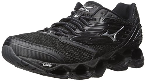 Mizuno Men's Wave Prophecy 5 Running Shoe, Black/Silver/Dark Shadow, 11 D US (Mizuno Running Shoes Prophecy compare prices)