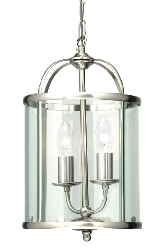 ENDON ROME-SC Rome mother /& child  230W /& 33W in Satin Chrome with Opal Glass