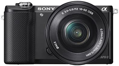 Sony Alpha a5000 Interchangeable Lens Camera with 16-50mm OSS Lens (Black)